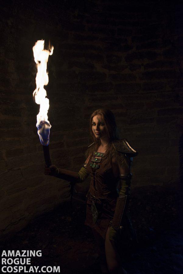 cosplay tesv aela the huntress teso