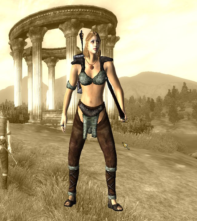 oblivion tes elder scrolls altmer high elf archer