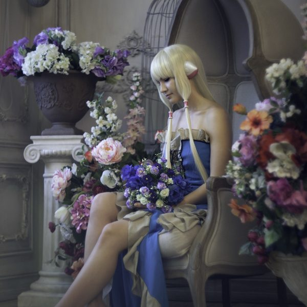 cosplay, clamp, manga, cosplaygirl, flowers