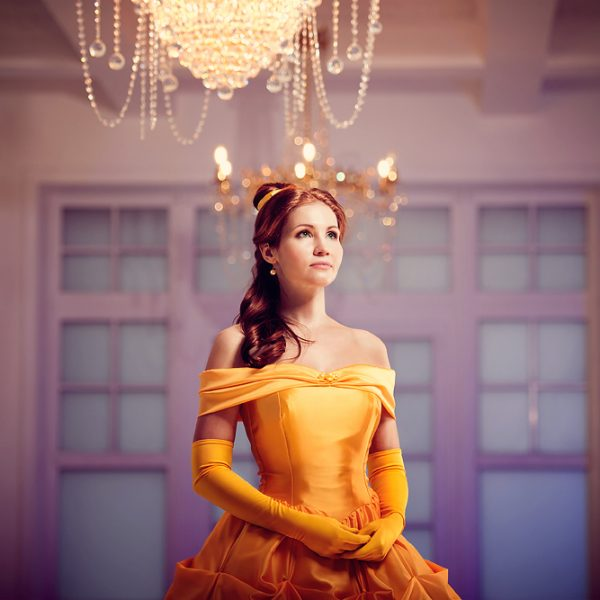Beauty and the Beast belle disney cosplay ball gown