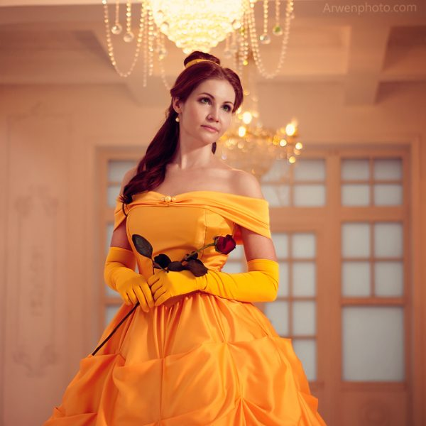 Beauty and the Beast belle disney cosplay ball gown cosplaygirl