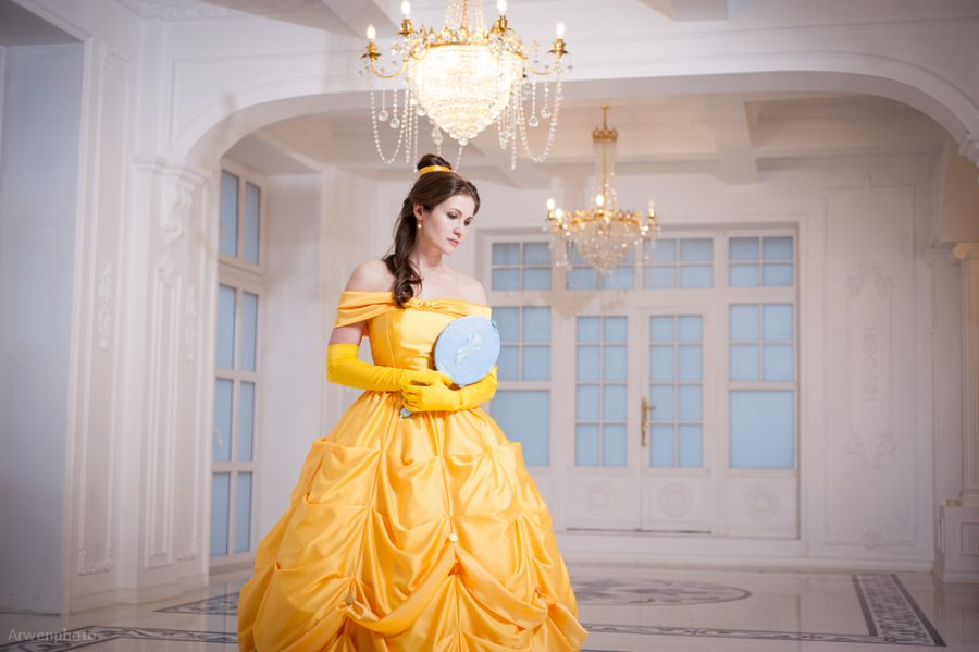 Beauty and the Beast belle disney cosplay yellow gown