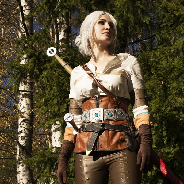 ciri cirilla the witcher 3 wild hunt cosplay forest cosplaygirl