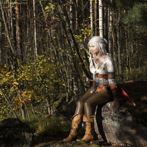 ciri cirilla the witcher 3 wild hunt cosplay nature warrior