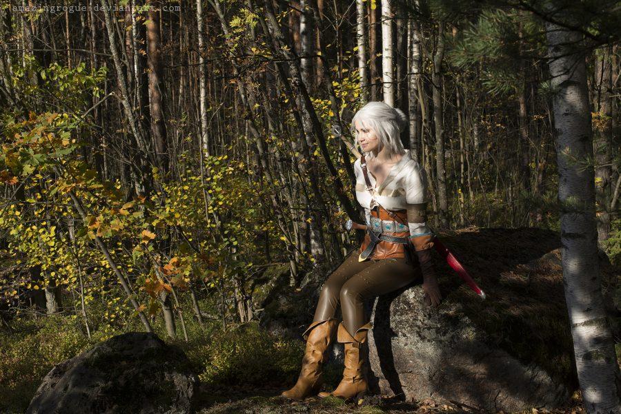 ciri cirilla the witcher 3 wild hunt cosplay nature warrior