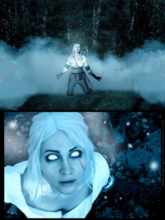 ciri cirilla the witcher 3 wild hunt cosplay white hair