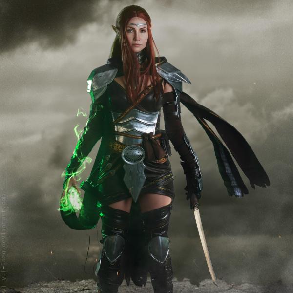 teso, elder scrolls online, warrior, cosplay, elf