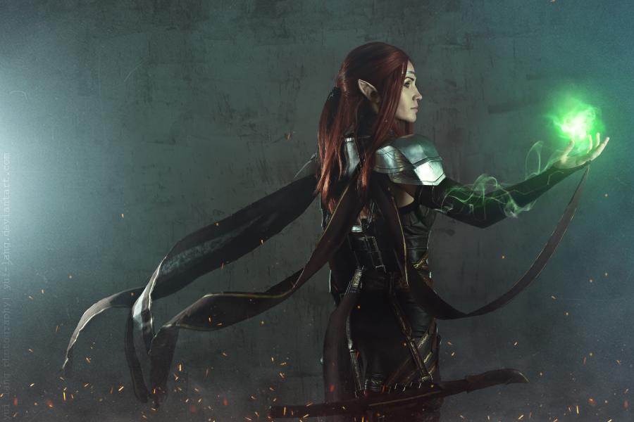 teso, cosplaygirl, elder scrolls, bethesda, altmer, high elf