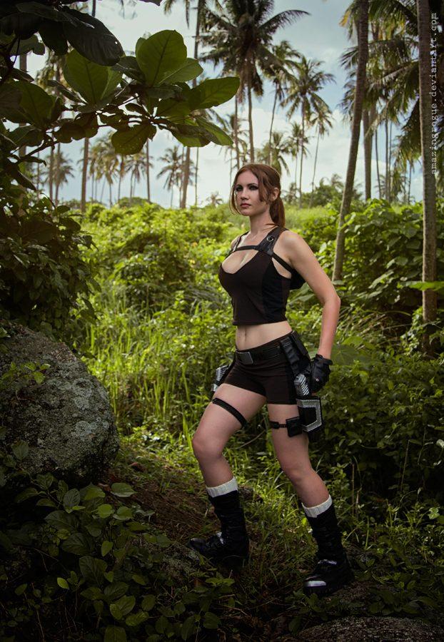 lara croft, tomb raider, cosplay, jungle, cosplaygirl, adventure