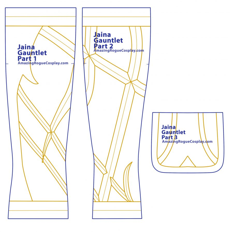 Jaina cosplay pattern Gauntlet